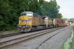 UP6820, UP5628 and UP6234 at Whitesboro Street