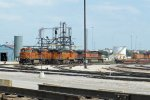 BNSF7808, BNSF7364, BNSF8209, BNSF1009 and others outside the depot