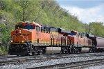 Grain train cruises west through Hoffman