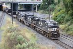 NS 8000 pulls train 15T onto B track to head out of Enola yard