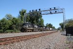 NS 8130 leads a unit tank train through MP 116 on the Harrisburg division