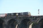 NS 9697 and 3651 lead a train over Rockville bridge