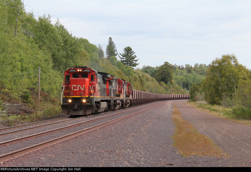 U788 comes north through Highland with another empty train for the range