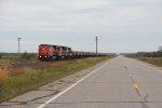 Three Dash-8's take U714 south as another train follows a few miles behind