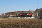 CN 2919 & 2942 lead Q118 south between Slinger and Ackerville