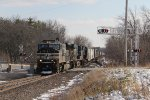 NS & CSX power come north over County Road D with A447