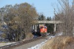CN 2855 comes under Church St with Q118