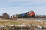 CN 2873 & GECX 2029 come south at milepost 139