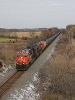 CN 3001 & 2818 lead U260 south