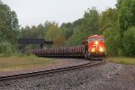 Just after ducking under the Peg, CN 3825 leads taconite loads south as U716