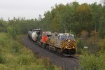 CREX 1516 leads loaded oil train U260 south at mile 22
