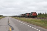 CN 2169 leads two more units as they slowly roll north without a functional EOT