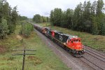 CN 2111 & 2172 bring another T-Bird south with raw ore for UTAC