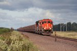 CN 6006 leads the way past the Sax-Zim Bog with taconite loads