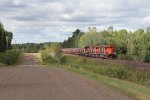 U711 continues south shortly after crossing the Cloquet River