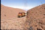 Passenger train in the high desert