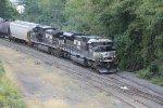 NS 7255 leads train 12R into Enola yard