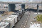 Train 11Z rolls into Enola yard