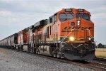 Grain train cruises east