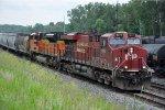Westbound grain train races past Oakland
