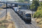 NS 9341 leads train 24N out of Enola yard