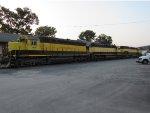 Three idle locomotives