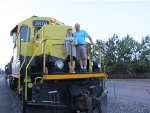 Two lucky railfans