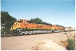 Almost out of Amarillo, Tx; BNSF 5973 and BNSF 5968 roll past me on their way to Pueblo, Co.