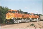 Two Brand new ES44AC's roll past me in West Amarillo, Tx towards Pueblo,    co.