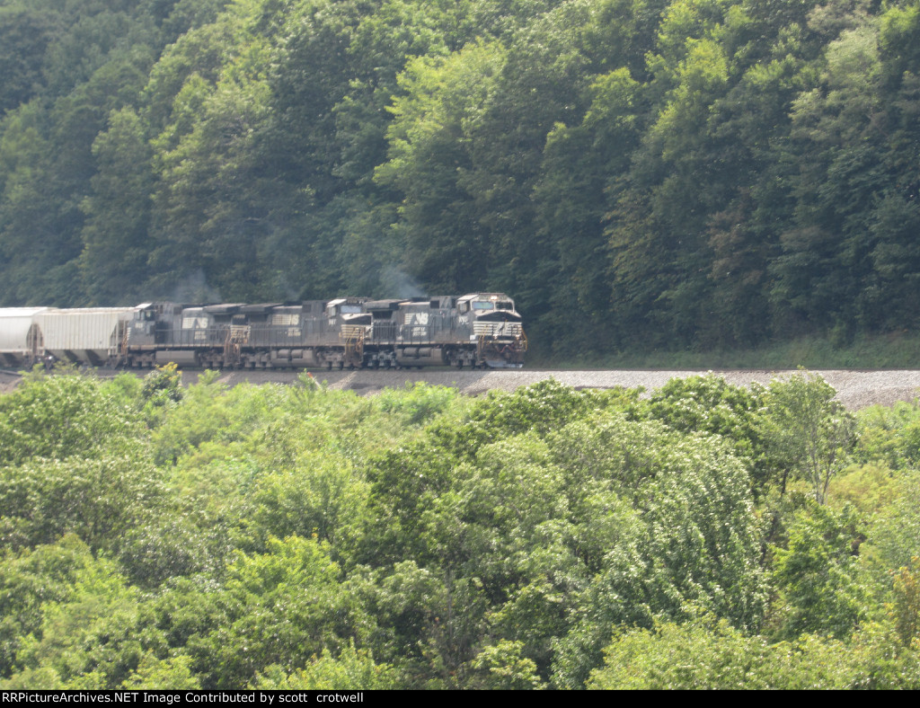 East bound mixed freight train