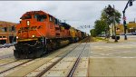 BNSF SD70ACE 9210 leading th manifest mixed train