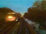 Metra 197 about to roar across the Des Plaines River