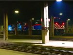 Metra 207 and 113 getting ready to pull a BNSF express train