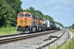 BNSF 5064 Drags a freight west down the Marceline Sub.