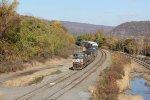 NS 9151 brings train 11Z into Enola yard
