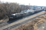 NS 4005 leads a train out of Enola yard