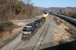 NS 9940 and 9602 bring train 11J into Enola yard