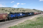 MRL 4300 and 4301 are shoving hard as mid train helpers