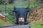 MRL 4300 is exiting Mullan Tunnel