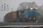 NS 337 in the pouring rain.