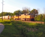 UP 4601, UP 2302, and CSX 2724 on Q326-23 in Michigan.