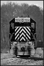 WE 7014 waits for its crew.