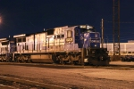 A former Conrail C39-8 at night