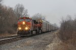 BNSF power starts down the Holly Sub with E280