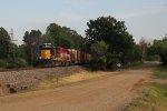 4209 leads Grand Elk's road train north toward Grand Rapids