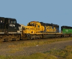 BNSF 6863, FURX 7275, and NS 8978