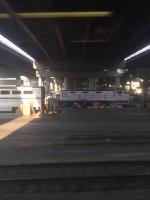 Amtrak #591 under a bridge