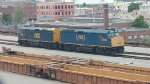 CSX F40s in Worcester intermodal yard