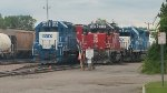 Locomotives in the VTR yard in Burlington VT