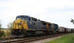 CSX 7395 leads a rock train